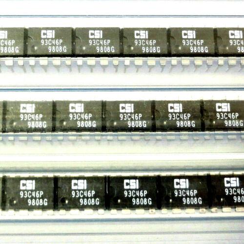 20 x CSI 93C46P EEPROM IC 64x16 8-PIN DIP8 OEM//NOS NEW 1998 Date Code CAT93C46P