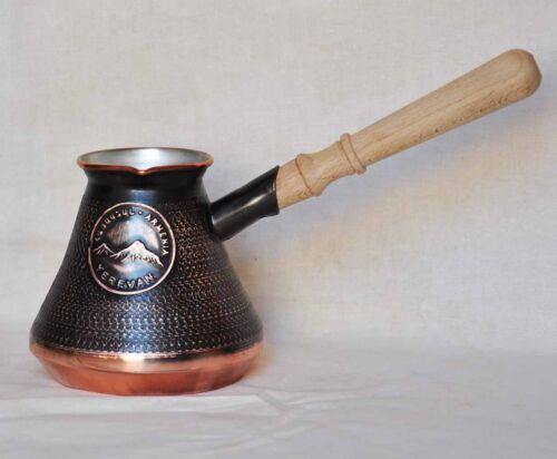 5-6 Tasses Cuivre Arménien Turc coffee pot maker Cezve ibrik Arménie jezve Cadeau