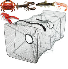 Fishing Bait Trap Fish Net Cast DIP Cage Crab Minnow Crawdad Shrimp Foldable US