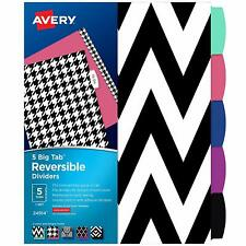 Avery 24914 Reversible Fashion Dividers Stylish Design 5 Big Tabs