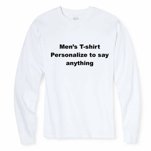 fb53e1290dfd PERSONALIZED CUSTOM PRINT YOUR OWN TEXT ON A T-SHIRT CUSTOMIZED TEE MENS  WOMENS