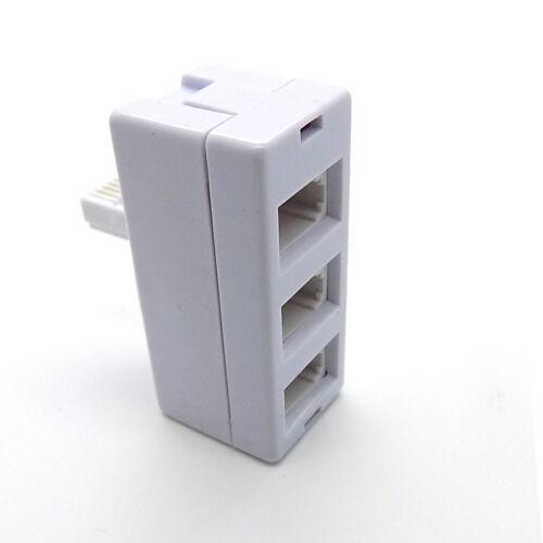 BT Telephone Socket Triple Phone Adapter 3 Way UK Land Line Converter Splitter