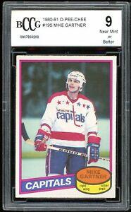 1980-81 O-Pee-Chee #195 Mike Gartner Rookie Card BGS BCCG 9 Near Mint+