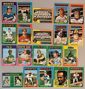 Lot-Of-60-Topps-1975-Mini-Baseball-Cards-EX-MT-Condition