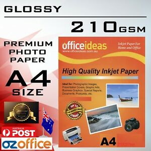 Details about 210GSM A4 High Glossy Photo Paper Canon Epson HP Xerox  Lexmark Inkjet Printer