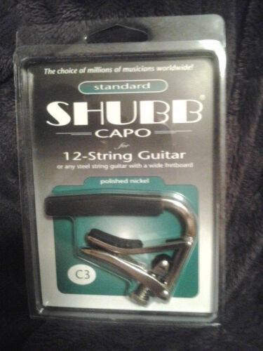Shubb C3 12 string acoutic guitar nickel New NIB Free Shipping
