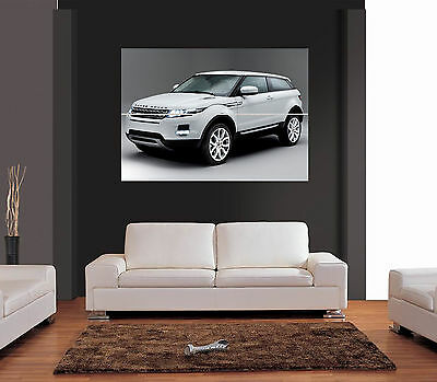WHITE RANGE ROVER EVOQUE Giant Wall Art Print Picture Poster