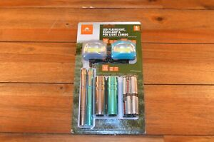 Ozark Trail 6 Piece Led Flashlight And Penlight And