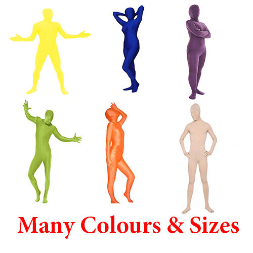 Fast Free Shipping Lycra Full Body Suits for Fancy Dress Many Colours and Sizes
