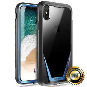 separation shoes e0f5f cc4f0 Details about For iPhone X iPhone Xs Full-Body Rugged Heavy Duty Case  Poetic Guardian Cover BU