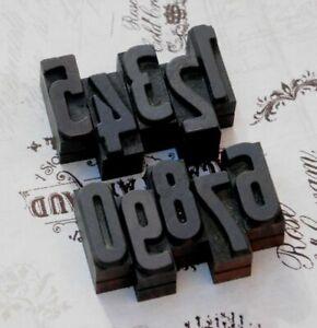 0-9-Zahlen-36-mm-Holzlettern-Lettern-Holzzahlen-Zahl-Stempel-Vintage-Stempel-alt