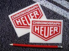 CHRONOGRAPH HEUER Stickers 11cm F1 Classic Mclaren Williams Ferrari Lotus Leman
