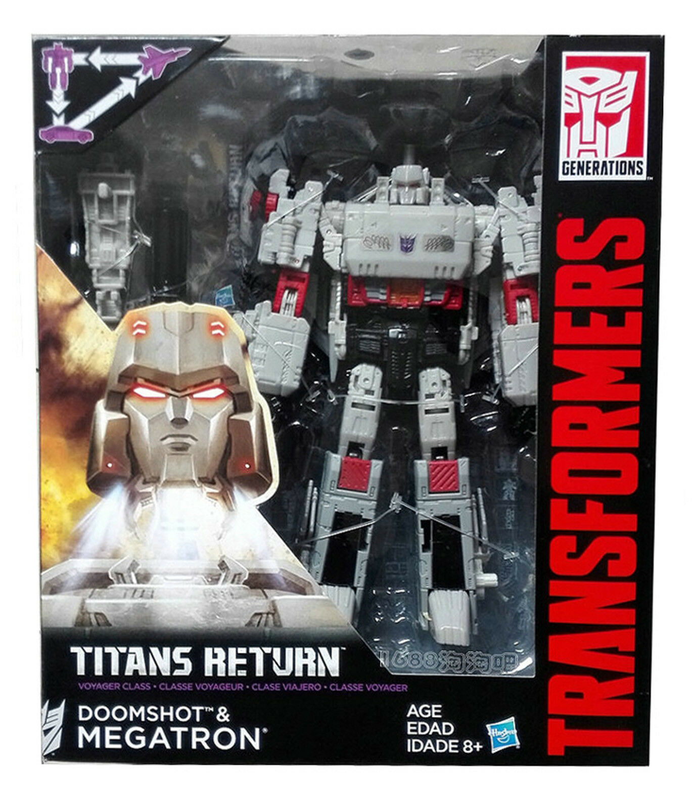 Hot Transformers Generations Titans Return DOOMSHOT & MEGATRON Voyager Class NEU