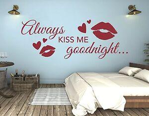 Wandtattoo Schlafzimmer Wandtatoo Spruch Liebe Kuss küss mich good ...