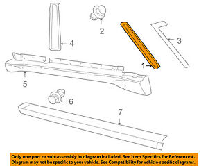 LAND ROVER OEM 99-04 Discovery Exterior-Pillar Molding Right ... on