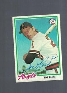 Joe Rudi California Angels 1978 Topps Signed Card W/Our COA