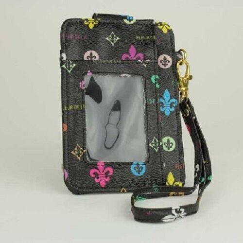 Fleur de lis Cell Phone Holder//Wristlet Choose Color