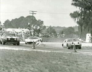 Vintage-8-X-10-1969-Sebring-Austin-Healey-Sprite-Camaro-Ford-GT40-Racing-Photo