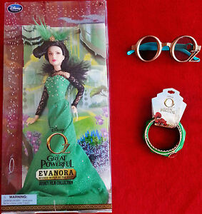 Disneys-Oz-the-Great-and-Powerful-Evanora-Doll-R-Weisz-Oz-3D-Glasses-Bracelets