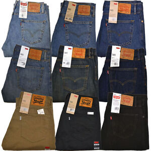 Levis 505 Jeans Straight Fit Original Mens Jean 29 30 31 32 33 34 ...