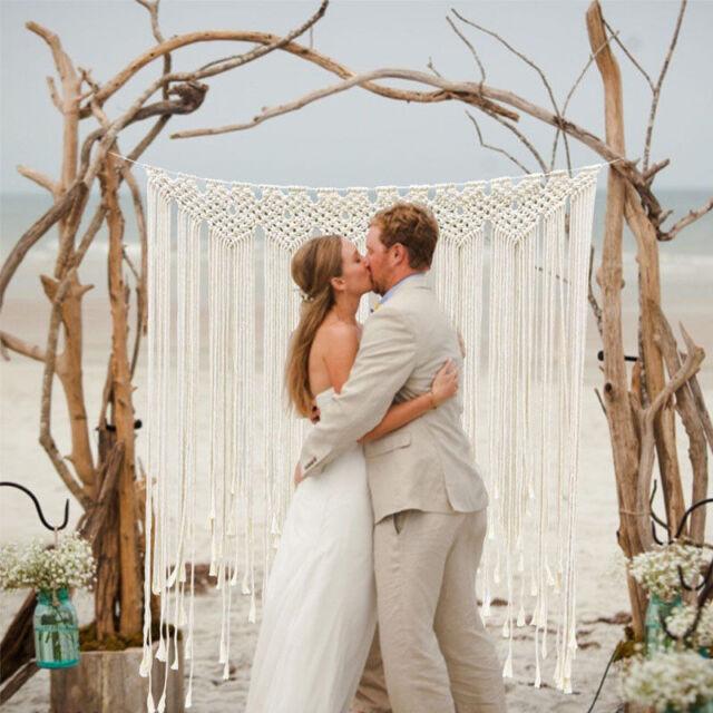 Macrame Backdrop Curtain Hanging Boho Wedding Hanger Cotton Wall Art Home Decor