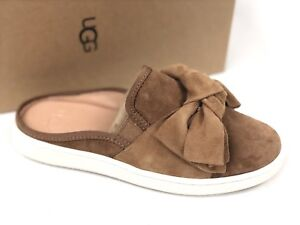 a4059b2bbf6 Details about Ugg Australia Womens LUCI BOW Chestnut Brown 1092515 Shoes  Slip On Suede Sneaker