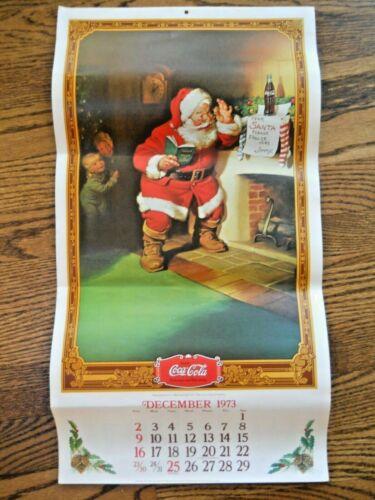 Santa /& 1920/'s Women Vintage 1973//1974 Coca Cola Advertising Calendar Coke