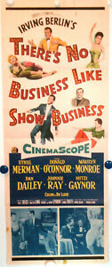 MARILYN-amp-E-MERMAN-THERE-039-S-NO-BUSINESS-LIKE-SHOW-BUSINESS-1954-Insert-VG