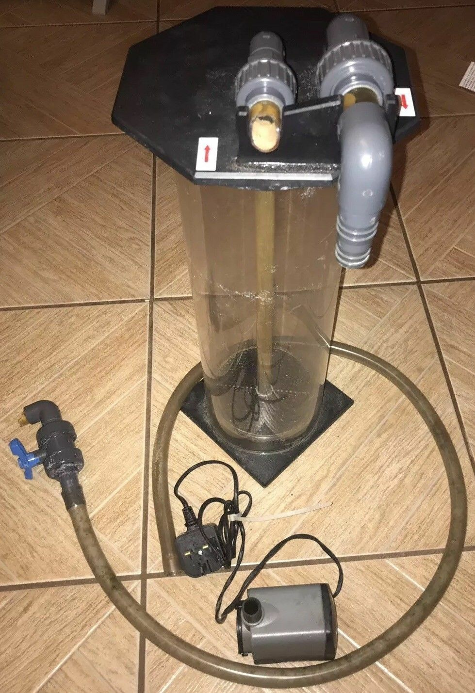 DELTEC FR512 FLUIDIZED REACTOR FOR ROWAPHOS CARBON IN MARINE FISH TANK