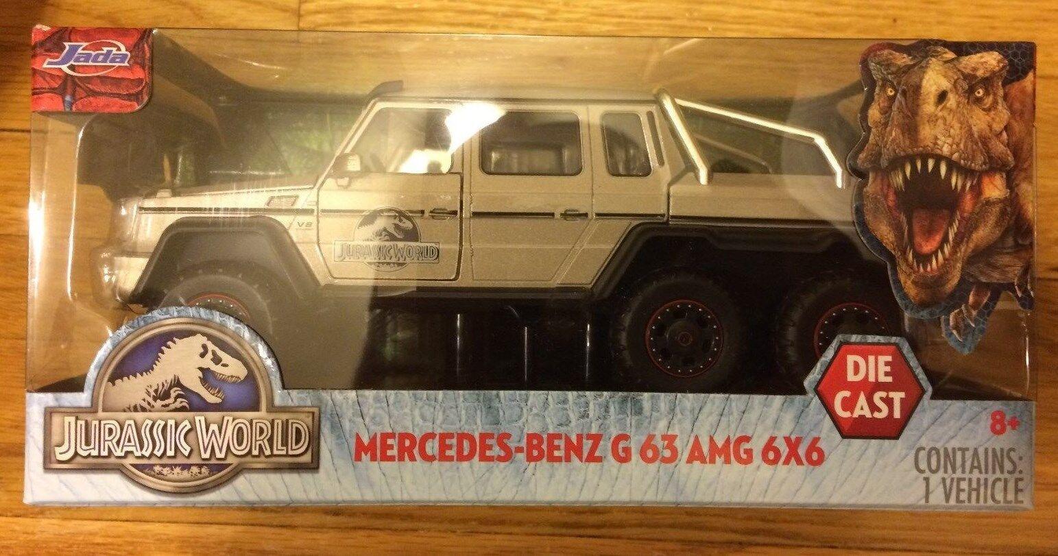 para proporcionarle una compra en línea agradable Jurassic Mundo película Diecast Mercedes Benz G 63 Amg Amg Amg 6x6 1 24 Escala Camión  almacén al por mayor