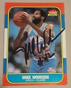 Mike Woodson Sacramento Kings SIGNED AUTOGRAPHED 1986 Fleer ROOKIE Card Hoosiers