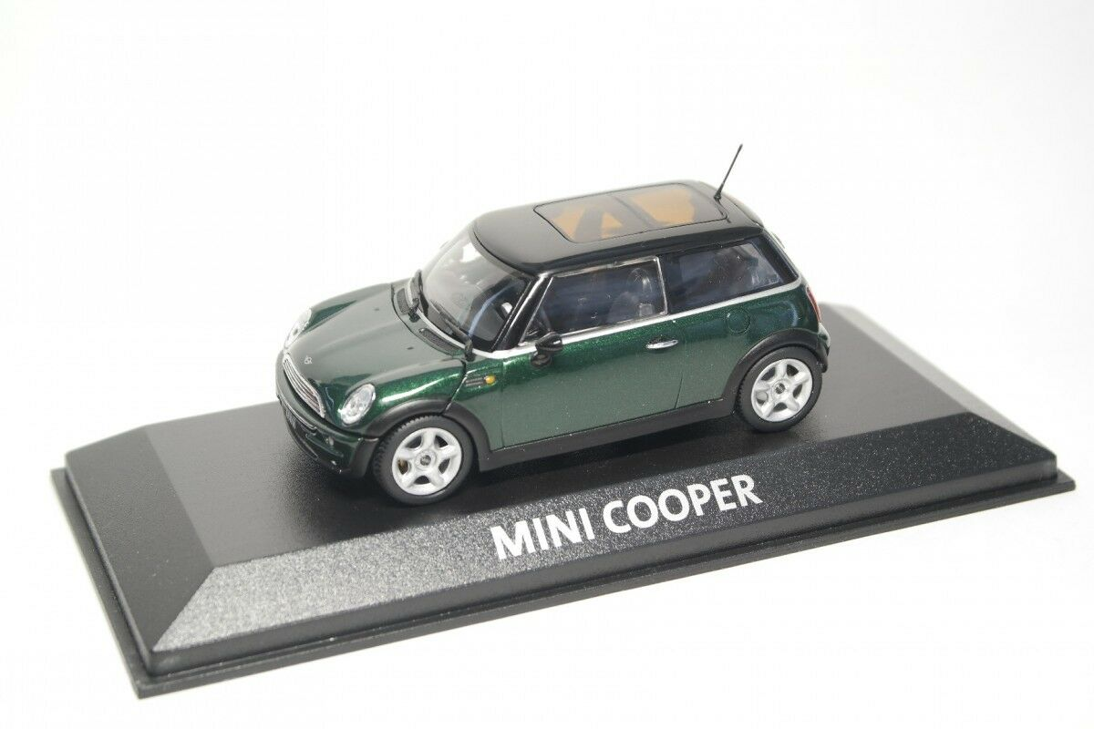 entrega rápida MINI COOPER COOPER COOPER R50 2001 BRITISH RACING verde MINICHAMPS 1 43  saludable