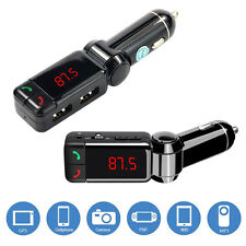 In Car Handsfree Bluetooth Hands-Free Kits 2 USB Charging and MP3 song Aux Radio