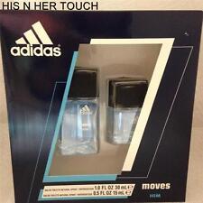 Adidas Moves Him Men Cologne EDT Spray 1.0 oz 30 ml 0.5 oz SET 2 PCS