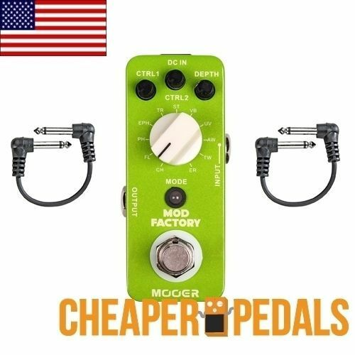 NEW MOOER MOD FACTORY Modulation Pedal + 2 FREE Patch Cables and FREE Shipping