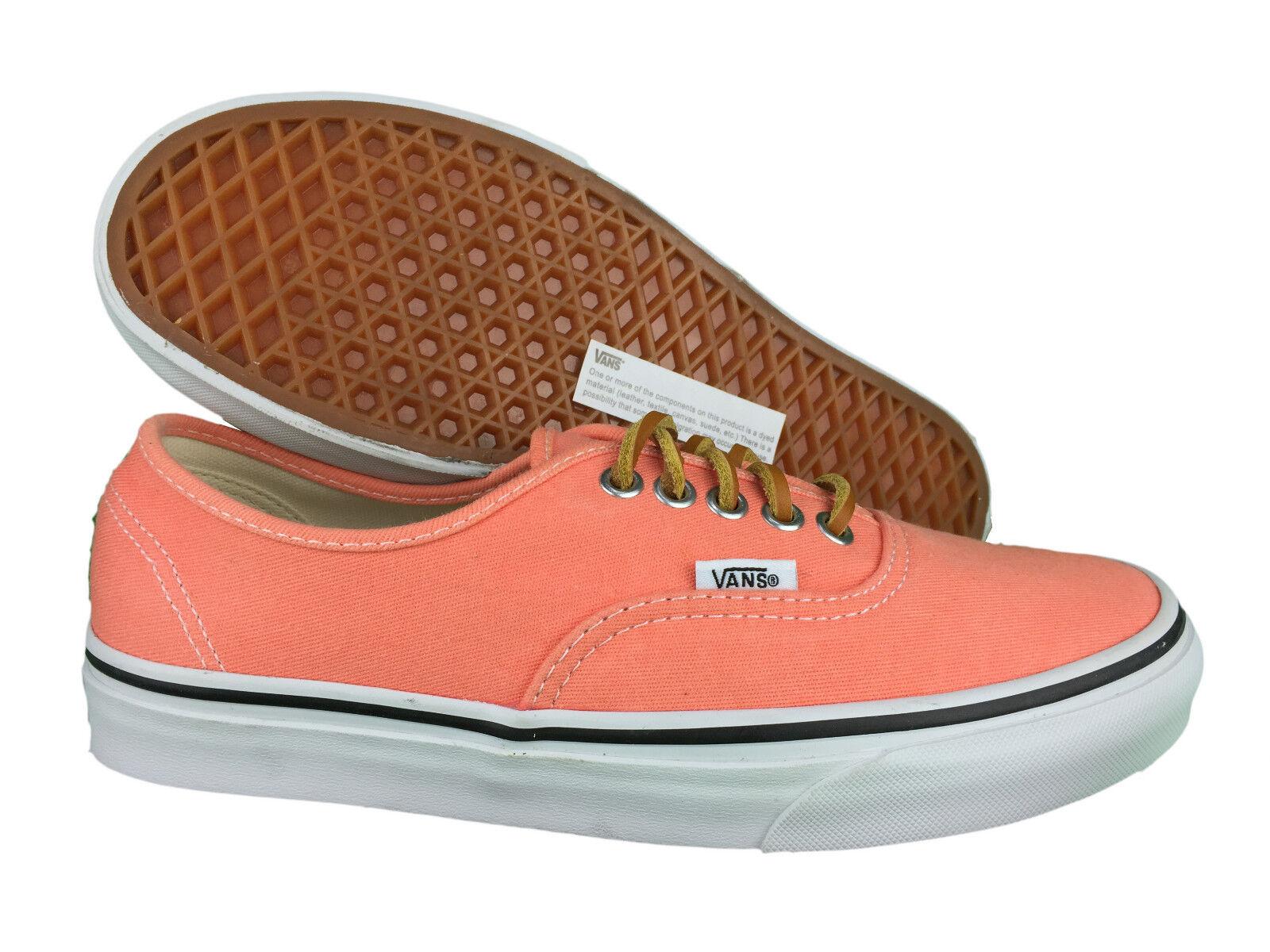 VANS. Authentic. Fresh Salmon Casual Unisex shoes. Mens US Size  3.5 - 9.