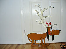 HAND MADE, MAX THE GRINCH DOG CHRISTMAS YARD ART DECORATION 30'' X 24''