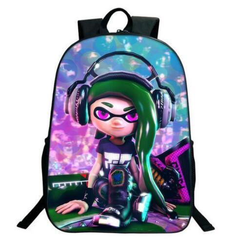 Splatoon 2 3D Print Children Travel School Backpacks Boy Girl Bags V15