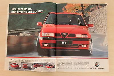 2019 Mode Alfa Romeo 155 Q4 Turbo 190ps Bücher Anzeige/werbung Stabile Konstruktion Automobilia