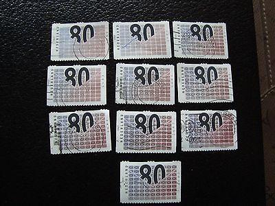 a30 Stamp Creative Paesi Bassi Francobollo Yvert E Tellier N° 1579 X10 Obliterati u