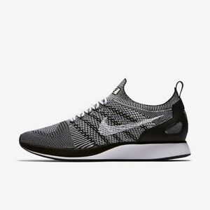 9dba6c3a63594 Nike Air Zoom Maria Flyknit Racer Mens Trainer Shoe White Black 11 ...