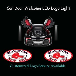 Image is loading 2Pcs-Boston-Red-Sox-Logo-Car-Door-Welcome-  sc 1 st  eBay & 2Pcs Boston Red Sox Logo Car Door Welcome Laser Projector Ghost ...