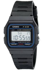 4294cc2130b9 Image is loading Casio-F91W-1-Classic-Digital-Watch-Black-Reloj-