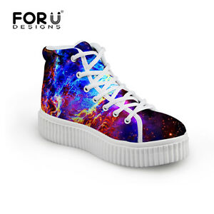 Galaxy-Durable-High-Platform-Casual-Ankle-Boots-Shoe-Womens-Ladies-Travel-New