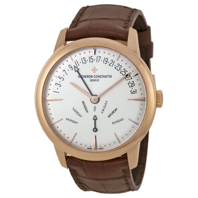 Vacheron Constantin Patrimony Contemporary Silver Dial Brown Leather Mens Watch