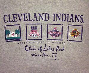 Cleveland Indians Lrg T Shirt Winter Haven Tee Florida 1997 Spring