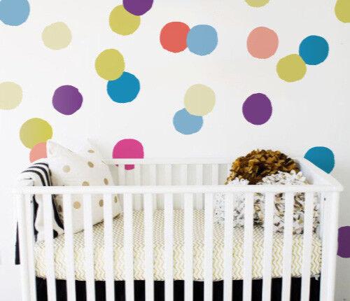 Set of 24 Big Colorful Confetti Wall Sticker Nursery Kids Home  MS271PC