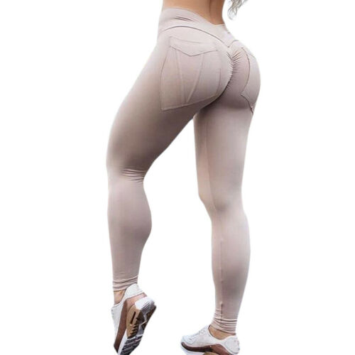 Damen Leggings Bandage Sport Yoga Fitness Leggins Jogginghose Hose Schwarz 34-44