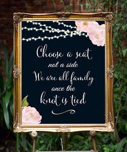 Image Is Loading Chalkboard Choose A Seat Wedding Sign 11 X