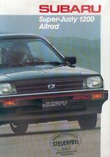 Subaru Super Justy 1200 Allrad Prospekt brochure Auto PKWs Autoprospekt Japan